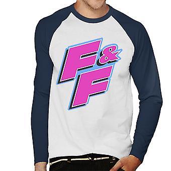 Nopea ja raivoisa FF Vaaleanpunainen Logo Men's Baseball Pitkähihainen T-paita