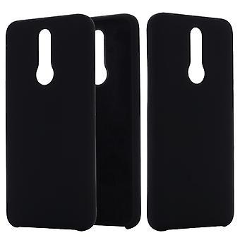 För Xiaomi Redmi 8 Enfärgad flytande silikon Dropproof Full Täckning Skyddsfodral(Svart)