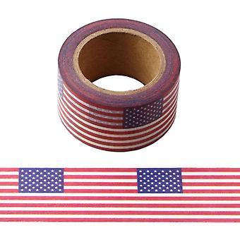 أمريكا نجوم الولايات المتحدة الأمريكية والمشارب العلم Washi الشريط