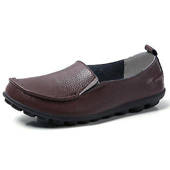 Woman Soft Women Casual Genuine Leather Flats Shoes