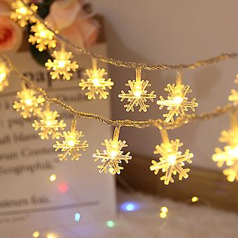 Led String Lights Outdoor And Indoor,snowflake Lights String,waterproof Usb Partylights,fairy String Lights