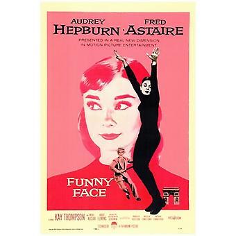 Funny ansigt film plakat (11 x 17)