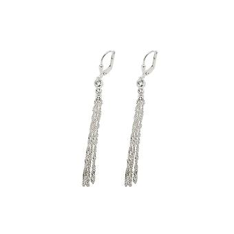 Leverback Earrings With Chain Silver 925