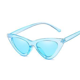 العلامة التجارية مصمم مرآة أسود مثلث نظارات شمسية ظلال للنظارات السيدات