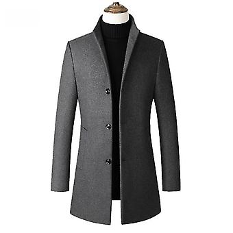 High-quality Casual Slim Collar Wool Coat's