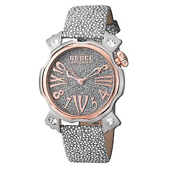 Rebel Women's Coney Island Silver Dial Leather Watch