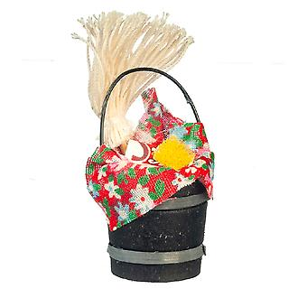 Suministros de limpieza de la casa de las muñecas en el viejo cubo de la moda 1:12 accesorio de la cocina