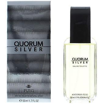 Antonio Puig Quorum Silver Eau de Toilette Spray for Men 50 ml
