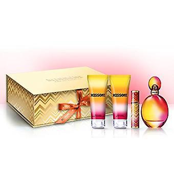 Missoni Gift Set 100ml EDT + 100ml Body Lotion + 100ml Shower Gel + 10ml EDT