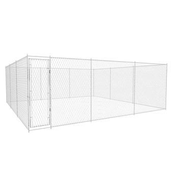 Outdoor dog kennel Galvanized steel 6x6x2 m