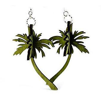 3d Palm Tree Oorbellen