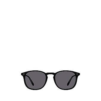 Garrett Leight KINNEY SUN matte black unisex sunglasses