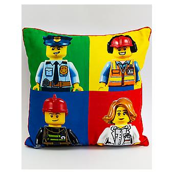 Lego City Hello Square Cushion