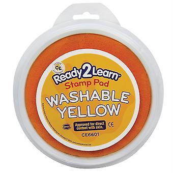 Jumbo Circular Washable Stamp Pad, Yellow
