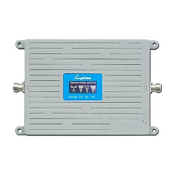 Gsm Cell Phone Booster Tri Band Mobile Signal Amplifier Lte Cellular Repeater