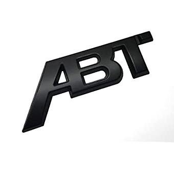 Matt Black ABT Tuning Sticker Rear Boot Emblem Badge Trunk Lid