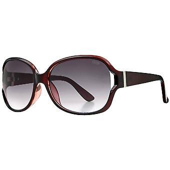 Suuna Over-Sized Wrap Sunglasses - Burgundy