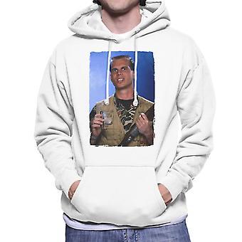 Weird Science Chet Donnelly Smoking Cigar Men's Hooded Sweatshirt
