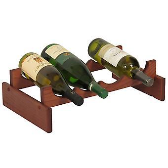 Martello di legno 4 bottiglia Dakota Wine Rack, Mogano
