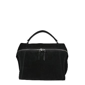Carditosale Cf206sus0010 Women's Black Leather Shoulder Bag
