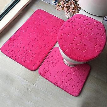 Kohokuvio flanellityyny WC-istuimen kansi - Kylpymatto kodin koristeluun