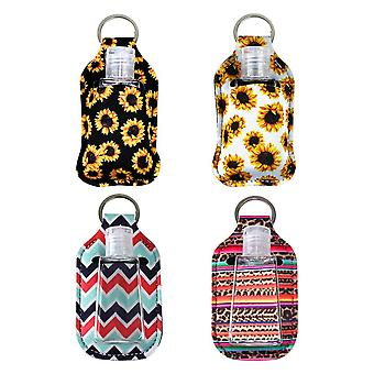 Portable Travel Hand Sanitizer Gel Holder With Keychain, Refillable