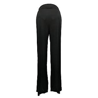 ليزا رينا جمع المرأة & apos السراويل طي الخصر واسعة الساق الأسود A308832