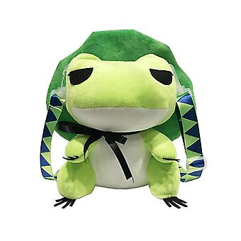 Travel Frog, Anime Plush Backpack, Schoolbag, Cute Stuffed Animal Toy, Doll