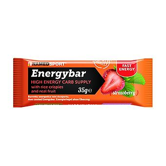 Energybar strawberry 1 bar of 35g (Strawberry)