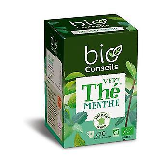 Green tea - Organic mint infusion 20 units