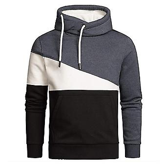Sweat-shirt mens Color Block Pullover Hoodies Athletic Fashion Long Sleeve