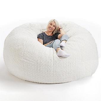 Weiche flauschige Wolle Pelz Sitzsack große Kaschmir Fleece Wohnzimmer faul Sofa Party