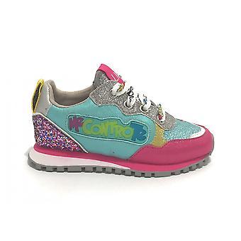 Liu-jo Sneaker Me Vs. Te Wonder 10 Children's Shoes With Fuxia LED Lights/ Torquoise Zs21lj02