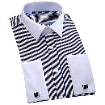 Hoge kwaliteit solide kleur mannen jurk shirt (set 2)
