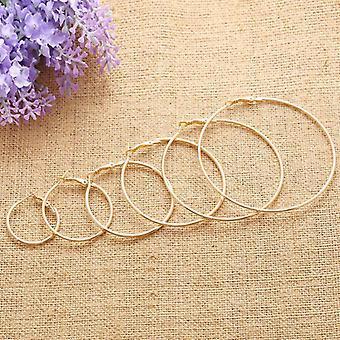 Trendy Large Hoop Big Smooth Circle Earrings