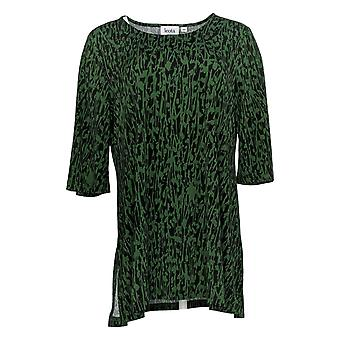 Women With Control Women's Top Pull-On Ponte Royale Green 143786