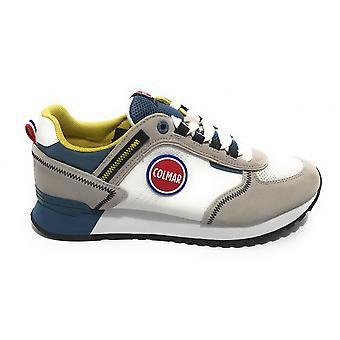 Men's Shoes Colmar Sneaker Travis Sport Colors 037 Suede/ White Fabric/ Blue Us21co06