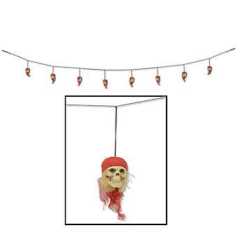 Guirnalda de cráneo pirata (Pack of 12)