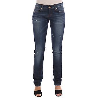 John Galliano Blue Wash Cotton Stretch Skinny Low Jeans - BYX1171