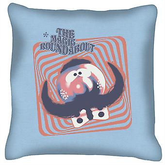 The Magic Roundabout Zebedee Psychedelic Lines Cushion