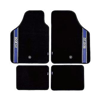 Auton lattiamattosarja Sparco Strada 2012 B Universal Musta/Sininen (4 kpl)