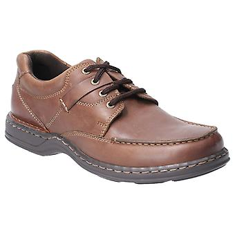 Hush Puppies randall ii leather Mens Casual Shoes brown UK Size