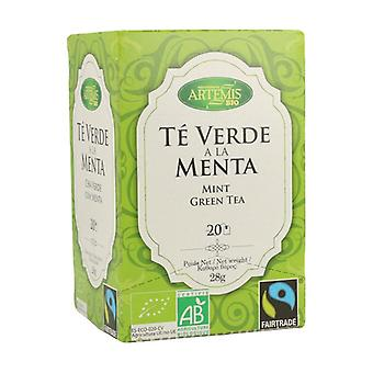 Grönt te med mynta 20 enheter