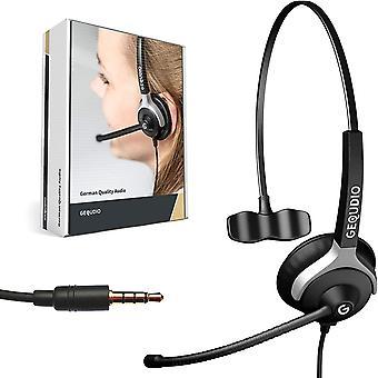 Wokex Headset mit 3,5mm Klinke kompatibel mit FritzFon C6, MacBook, Smartphone, Speedphone,