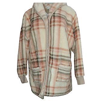 Koolaburra By UGG Women's Sweater Cozy Shaggy Plush Cardigan Ivory A386142