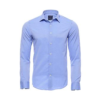 Patterned casual sky blue shirt