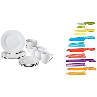 Wokex Geschirrservice, 16-teilig, für 4 Personen Messer-Set, bunt, 12-teilig