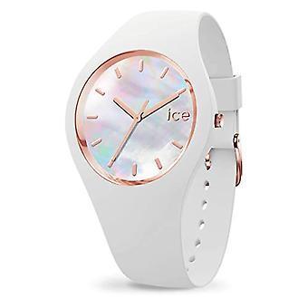 Ice-Watch ICE Pearl White, Naisten valkoinen kello silikonihihnalla, 016935 , Pieni (34 mm)