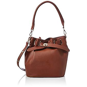 PIECES PCROLLE Bucket Bag, Women's Travel Bag, Root Beer, One Size