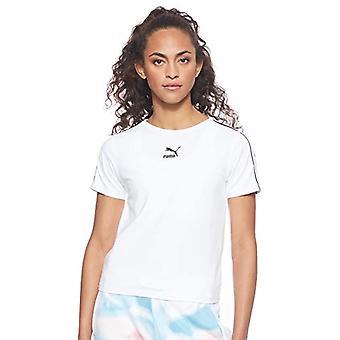 Puma Classics Tight Top Shirt, Damen, Puma Weiß, L